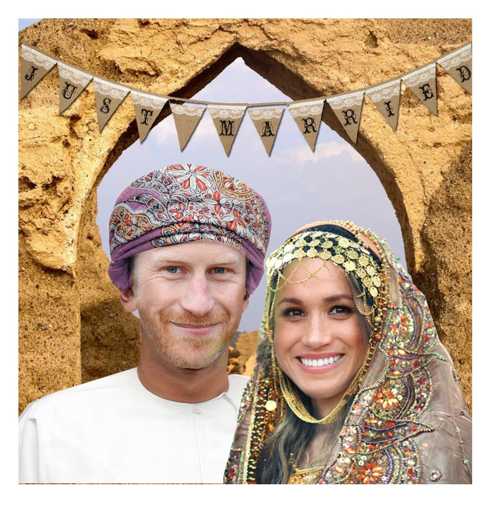 Kostis Grivakis - Omani Harry and Meghan collage