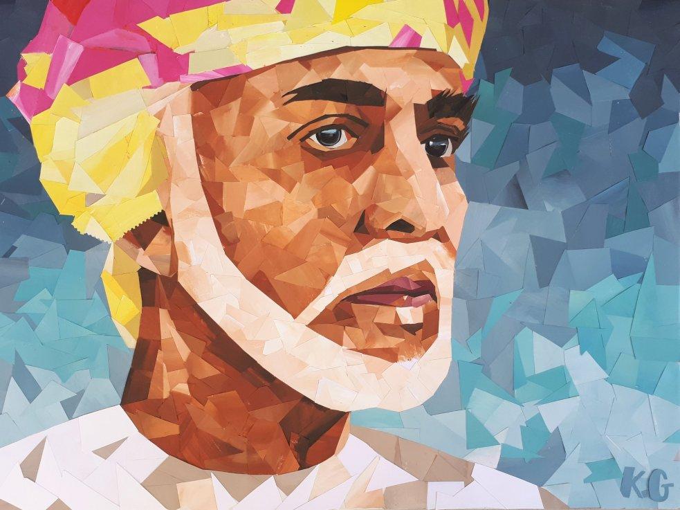 Kostis Grivakis - Sultan Qaboos collage portrait 2