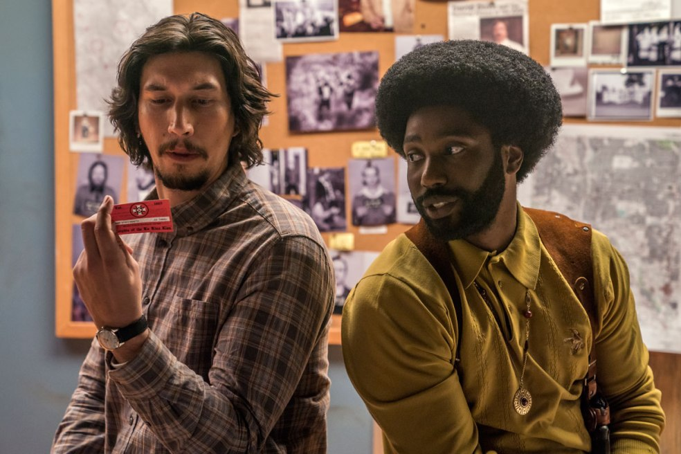 Adam Driver , John David Washington in BlacKkKlansman