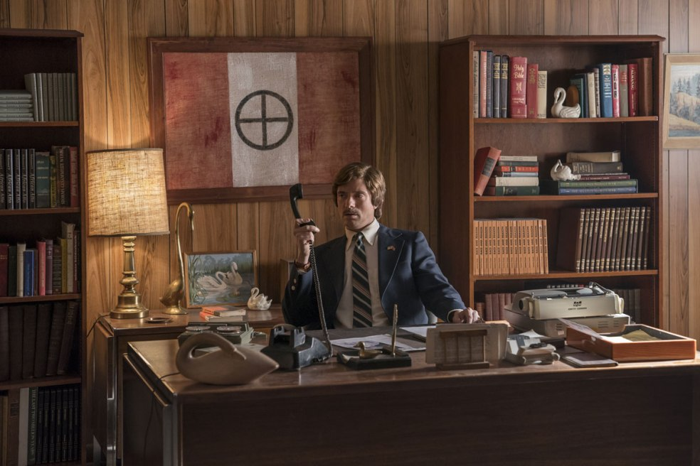 Topher Grace as David Duke in BlacKkKlansman